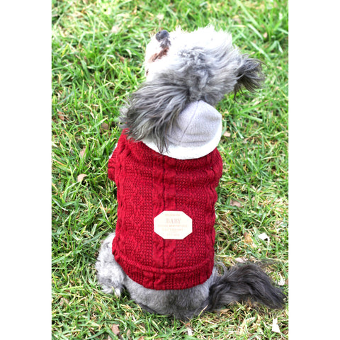 Matching Dog and Owner - Aran Irish Knit Dog Sweater - Dogs