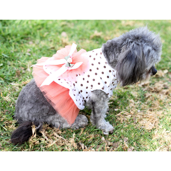 Matching Dog and Owner - Polka-Dot Sun Dress - Dogs