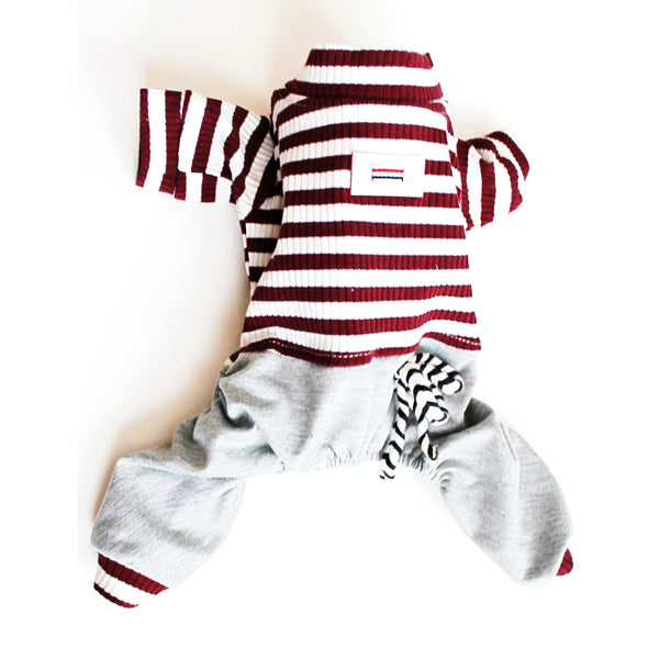 Matching Dog and Owner - French Stripe Parisian Dog Pajamas - Dogs