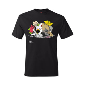 Matching Dog and Owner - Dia De Los Muertos Pug - Youth Shirts - Youth
