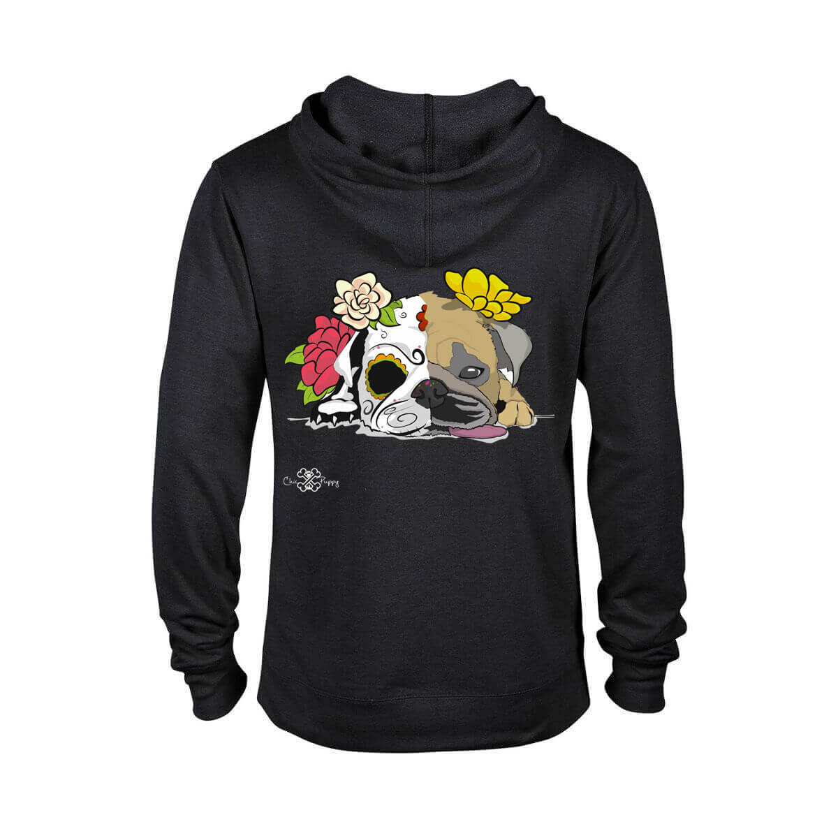 Matching Dog and Owner - Dia De Los Muertos Pug - Women Hoodies - Women