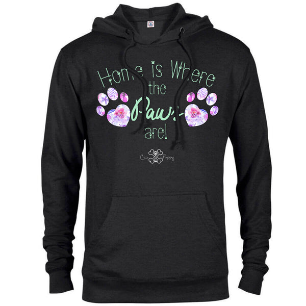 Matching Dog and Owner - Home is Where the Paws Are! - Women Hoodies - Women