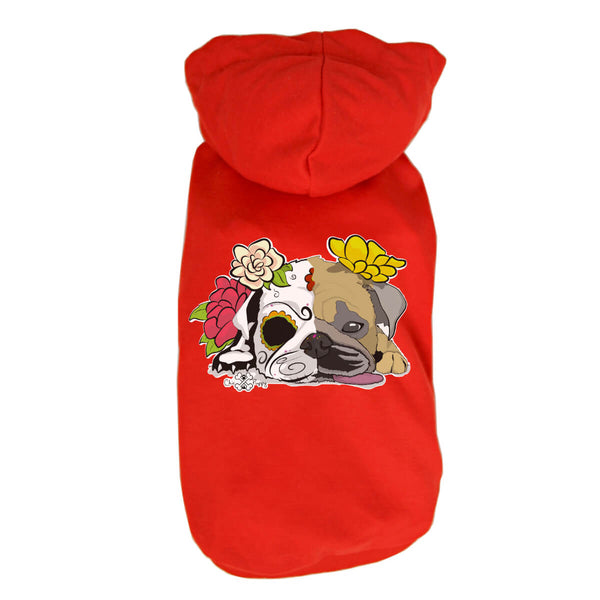 Matching Dog and Owner - Dia De Los Pugs - Dog Shirts & Hoodies - Dogs