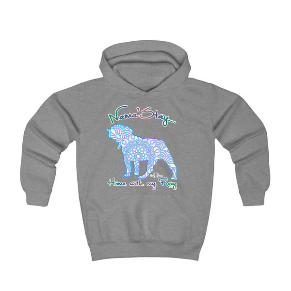 Matching Dog and Owner - Mandala Pups Silhouette - Youth Hoodies - Youth