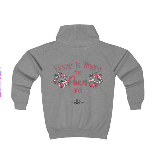 Matching Dog and Owner - Home is Where the Paws Are! - Youth Hoodies - Youth