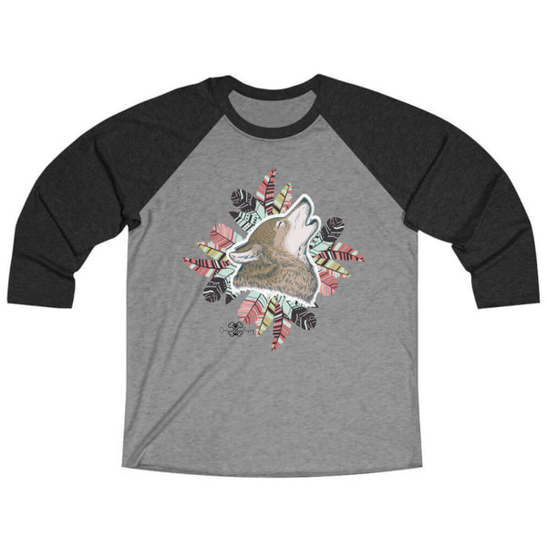 Matching Dog and Owner - Husky Pride Dreamcatcher - Men Raglans - Men