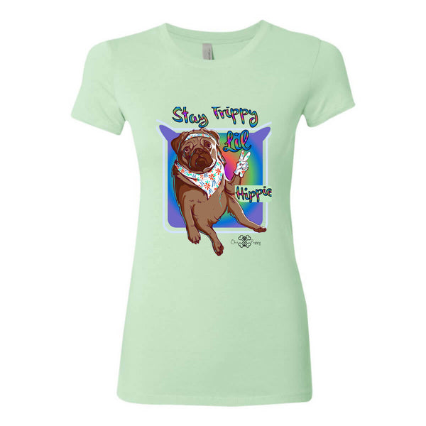 Matching Dog and Owner - Stay Trippy Lil Hippie - Women Shirts - Women