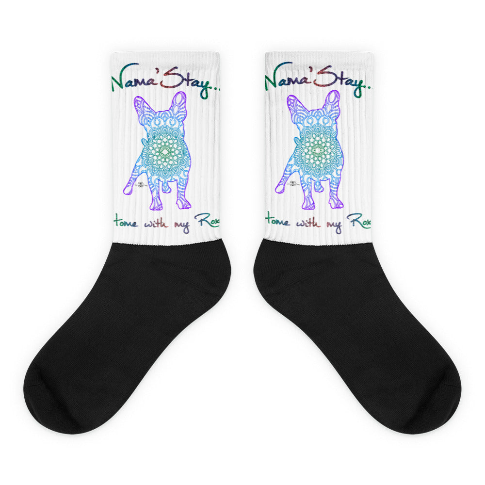 Matching Dog and Owner - Mandala Pups Silhouette *Personalized   Socks - Women