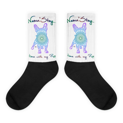 Matching Dog and Owner - Mandala Pups Silhouette - Socks - Women