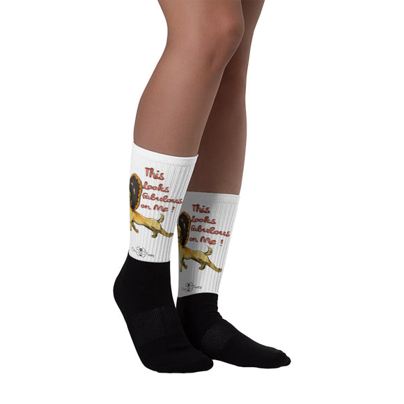 Matching Dog and Owner - This Looks Fabulous Socks - Women