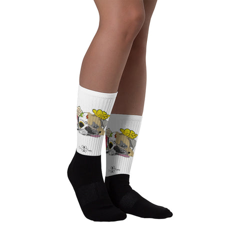 Matching Dog and Owner - Dia De Los Muertos Pug - Socks - Women