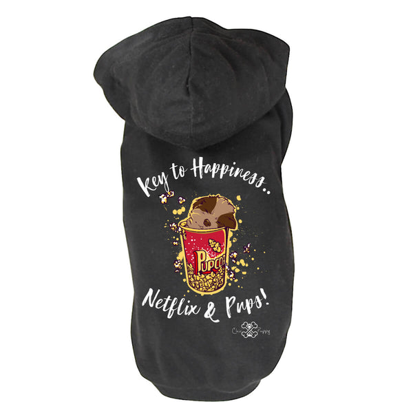Matching Dog and Owner - Key to Happiness: Netflik & Pups! - Dog Shirts & Hoodies - Dogs