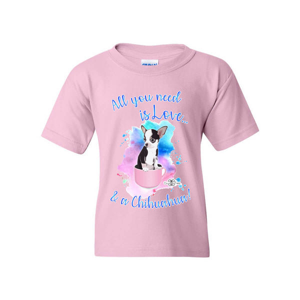 Matching Dog and Owner - All you need is Love & a Chihuahua - Youth Shirts - Youth