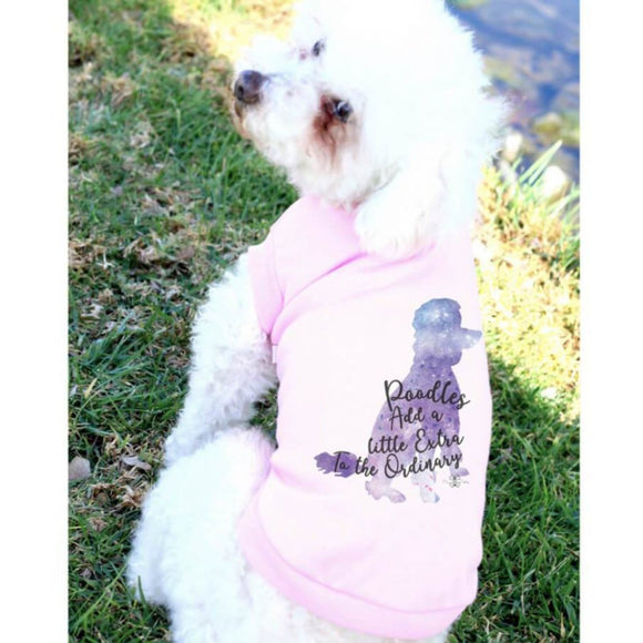 Matching Dog and Owner - POODLES Add a Little Extra...(CUSTOM BREED GALAXY SILHOUETTE) - Dog Shirts & Hoodies - Dogs