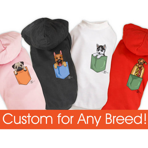 Matching Dog and Owner - Puppy Pocket - Dog Shirts & Hoodies - Dogs