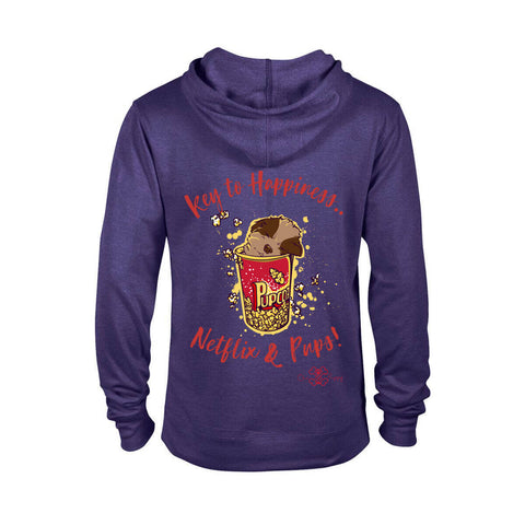 Key to Happiness: Netflik & Pups! - Men Hoodies