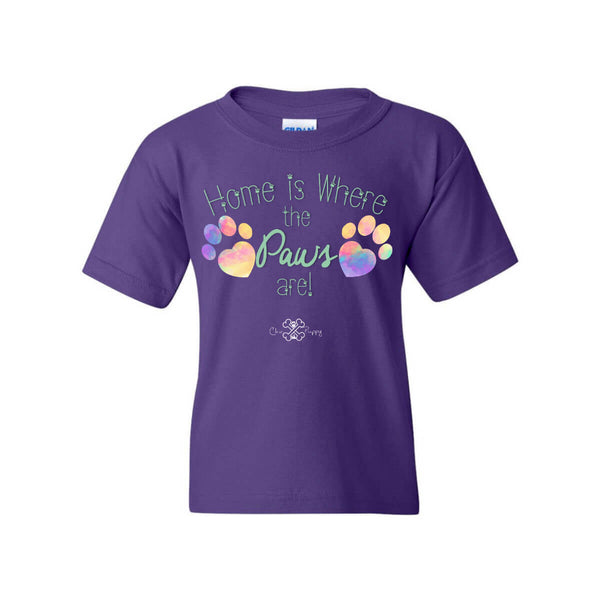 Matching Dog and Owner - Home is Where the Paws Are! - Youth Shirts - Youth