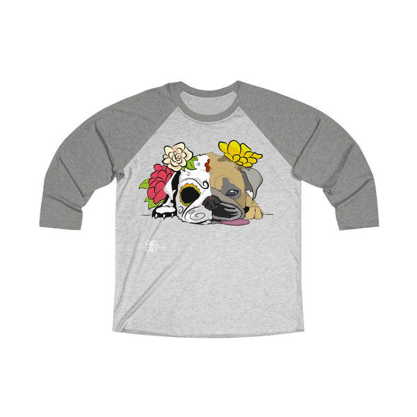 Matching Dog and Owner - Dia De Los Muertos Pug - Men Raglans - Men