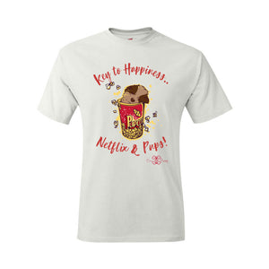 Matching Dog and Owner - Key to Happiness: Netflik & Pups! - Men Shirts - Men