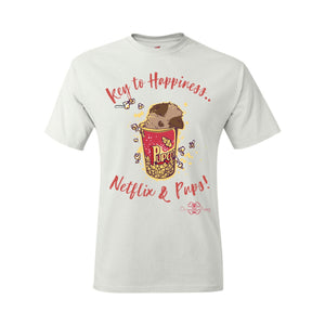 Matching Dog and Owner - Key to Happiness: Netflik & Pups! - Youth Shirts - Youth
