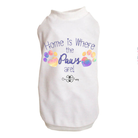 Matching Dog and Owner - Home is Where the Paws Are! - Dog Shirts & Hoodies - Dogs