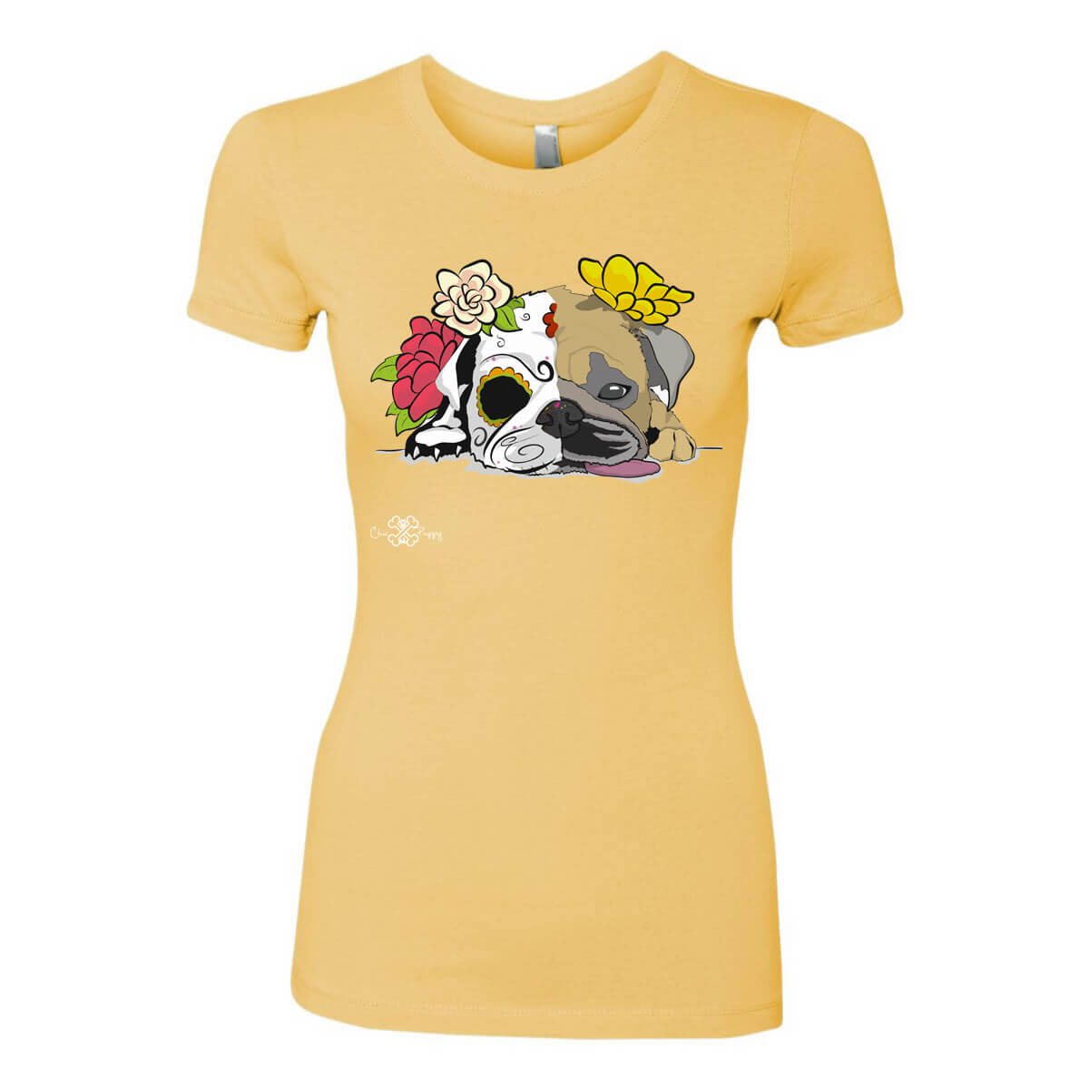 Matching Dog and Owner - Dia De Los Muertos Pug - Women Shirts - Women