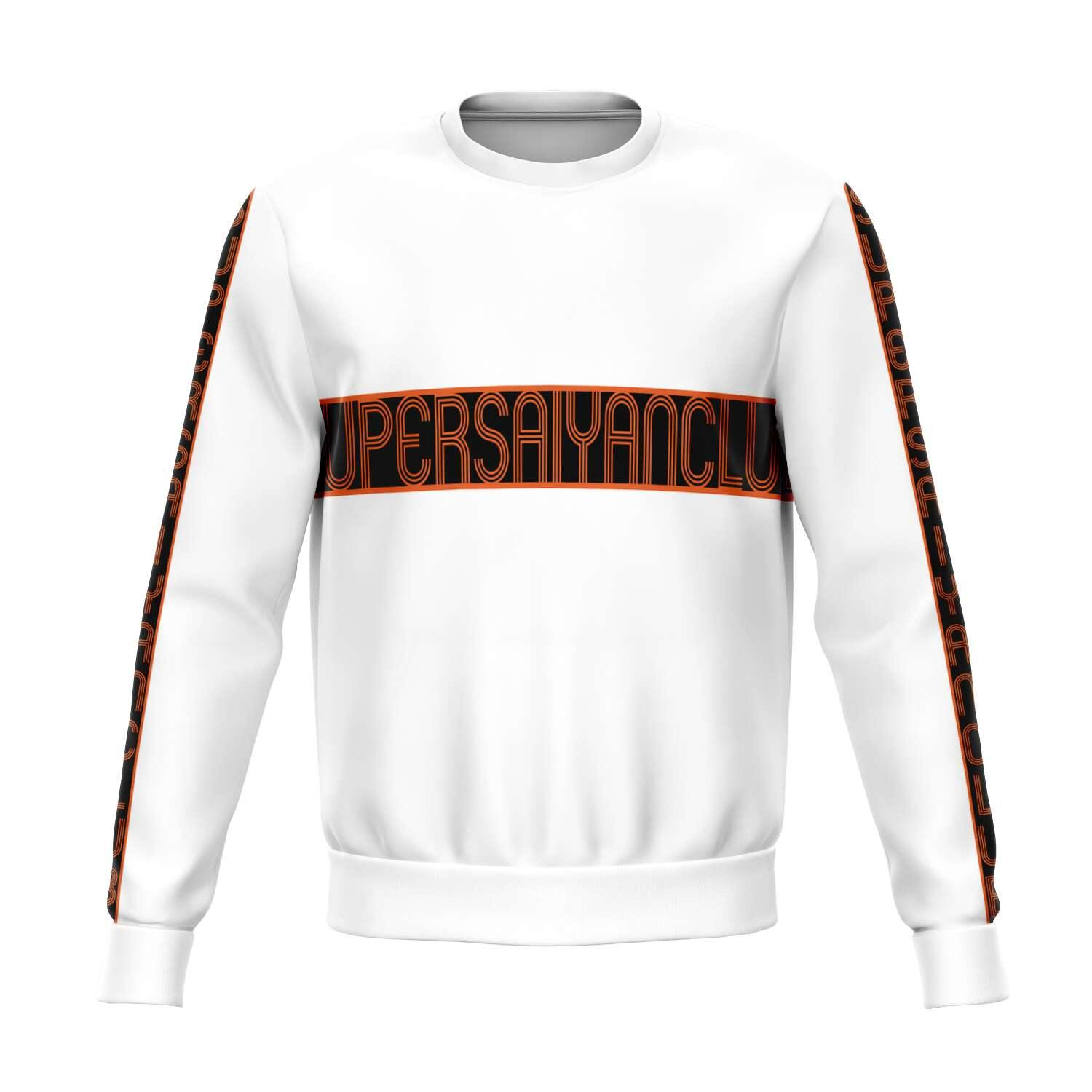 White SUPERSAIYANCLUB Sweater - PlanetGoku