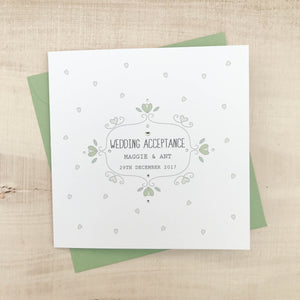 Wedding Acceptance and Regret Cards