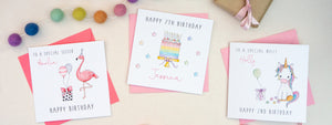 Personalised Girls Birthday Cards