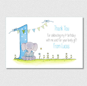 Personalised Boys 1st Birthday Thank You Cards