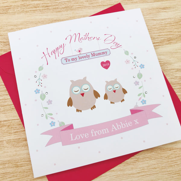 Handmade personalised Mother's Day card