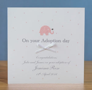 Handmade Personalised Adoption Card