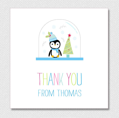 Personalised Childrens Christmas Thank You Cards pack of 10