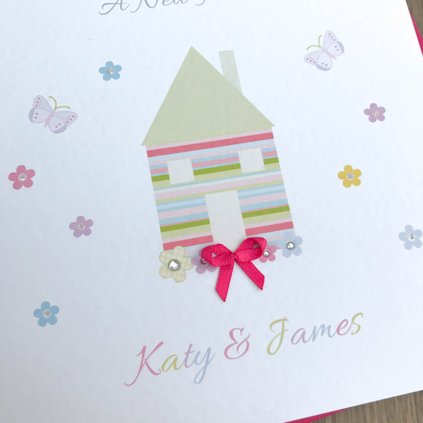 Handmade Personalised Moving Home Card