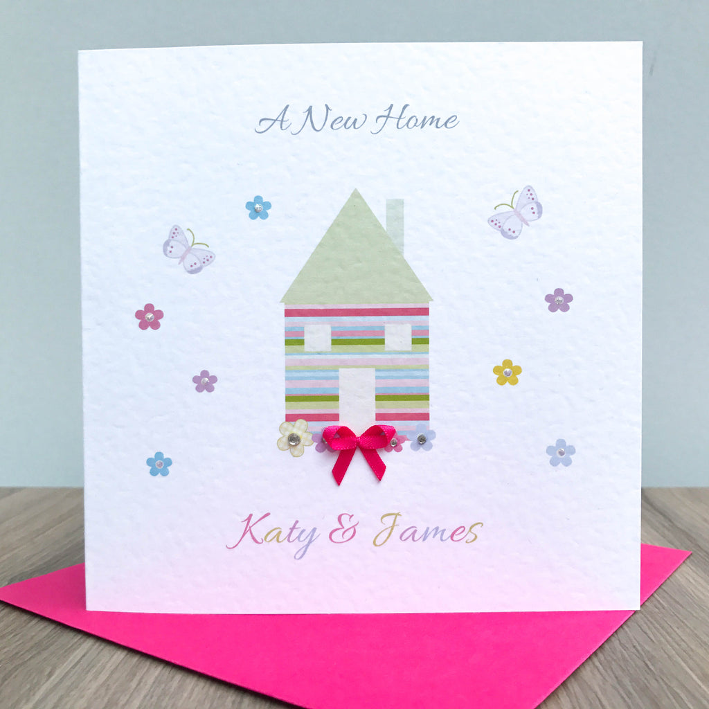 Handmade Personalised Moving Home Card Just For Cards