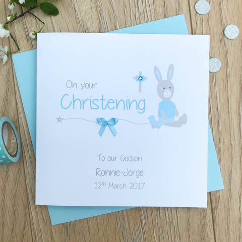 Personalised Christening Card – Goddaughter, Godson, Granddaughter, Grandson