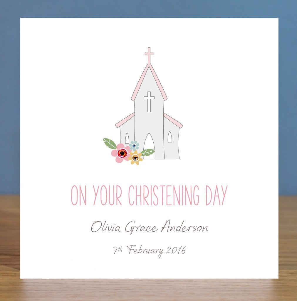 Personalised Christening Card – Church