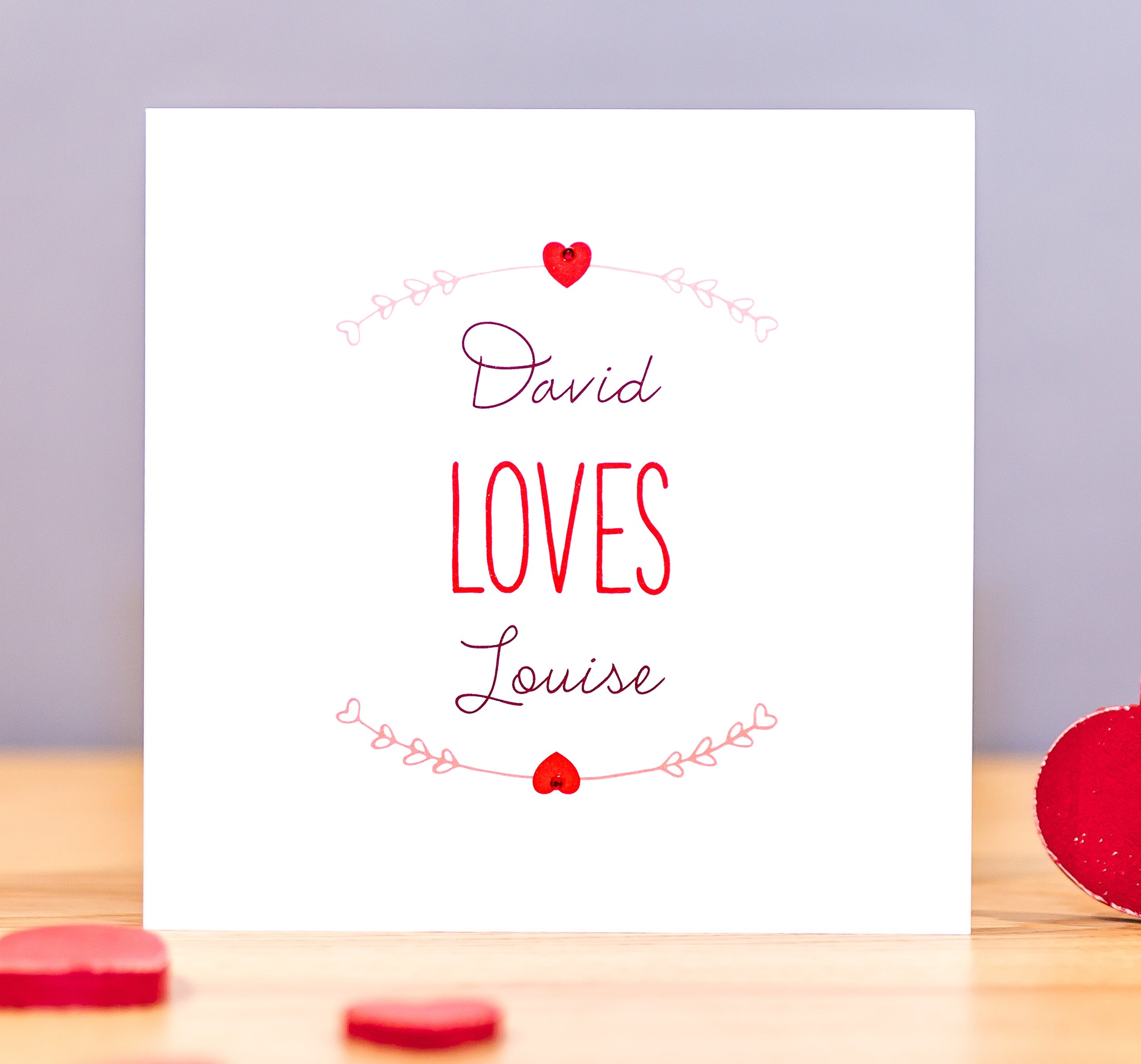 Personalised Valentine's Card – Names