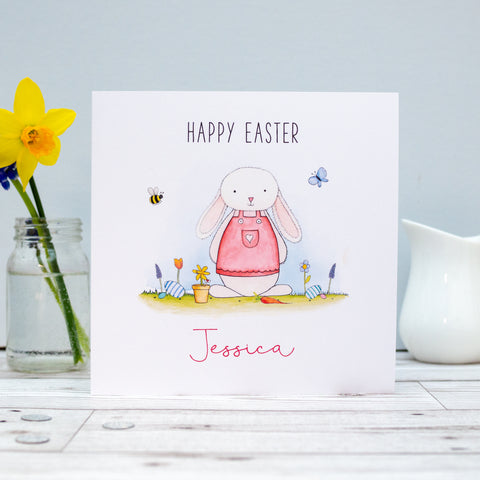 Personalised Girls Easter Card - Daughter, Granddaughter, Niece, Goddaughter