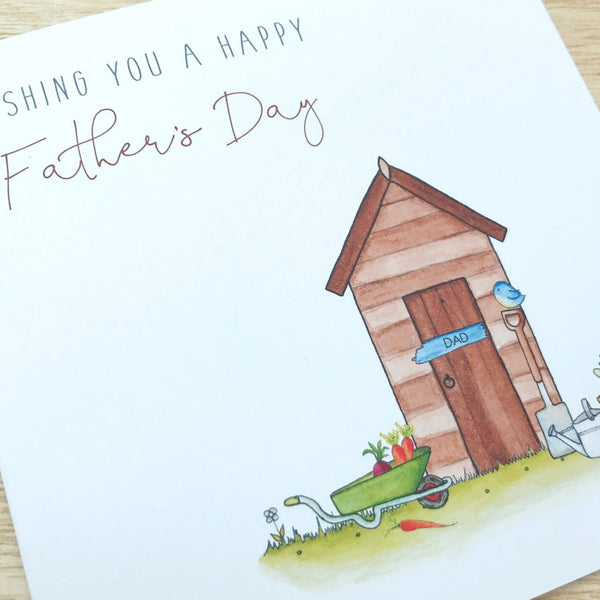 Personalised Father's Day Card - Shed