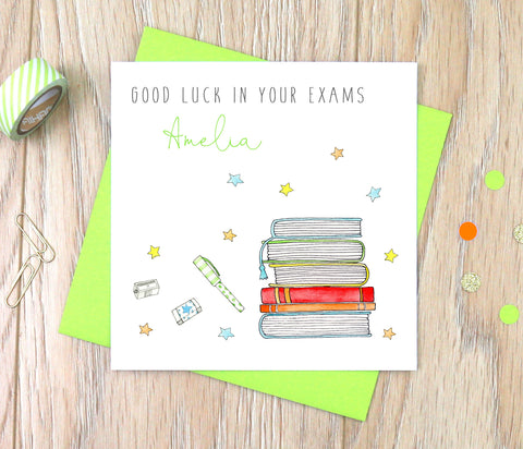 Personalised Good Luck In Your Exams Card