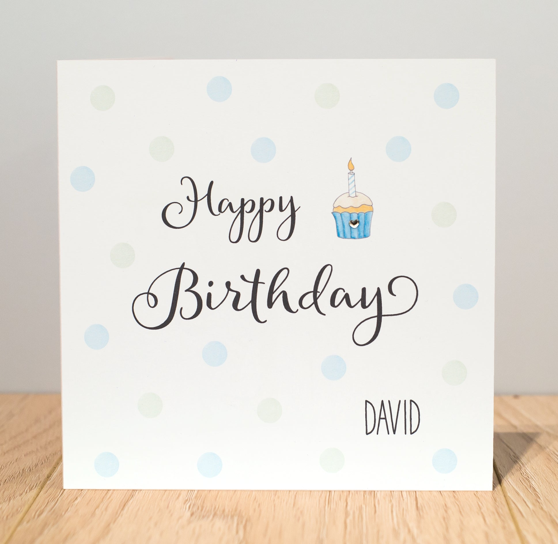 Personalised Birthday Card – Birthday Cup Cake