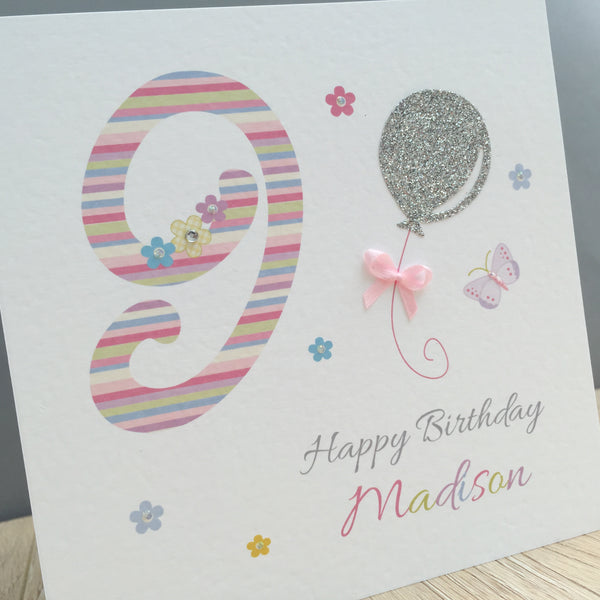 Handmade Personalised Birthday Card – 3rd, 4th, 5th, 6th, 7th, 8th, 9th