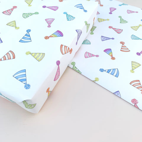 Party Hats Wrapping Paper