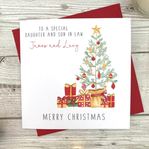 Personalised Christmas Card - Christmas Tree Card
