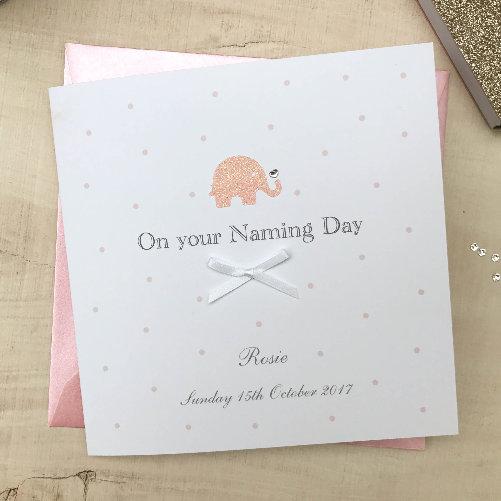 Personalised Baby Naming Day Card