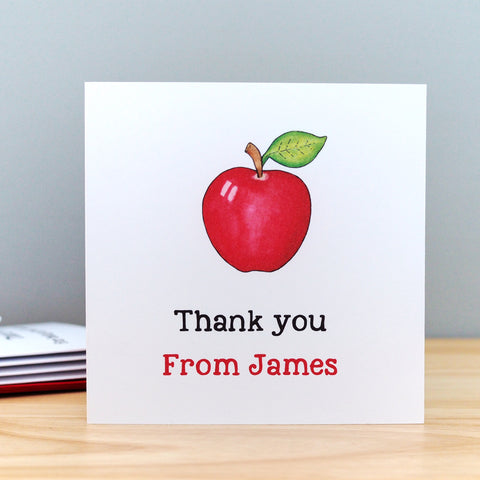 Pack of 5 Small Teacher Thank You Cards
