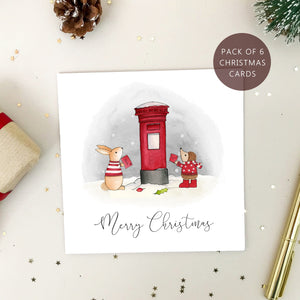 Packs of 6 Christmas Cards - Personalised Christmas Cards