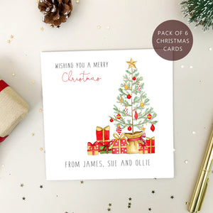 Pack of Christmas Cards - Personalised Family Christmas Cards - Pack of 6