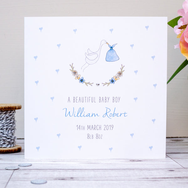 Personalised Baby Boy Card - New Baby Boy Card - Baby Boy Card